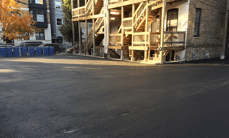 Twin Bros. Paving & Concrete asphalt overlay project