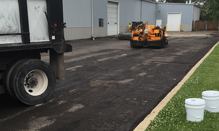 parking lot getting new asphalt