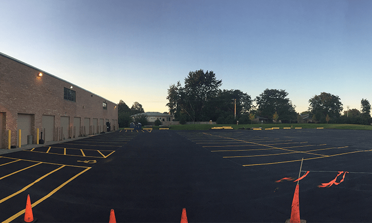 parking lot drying
