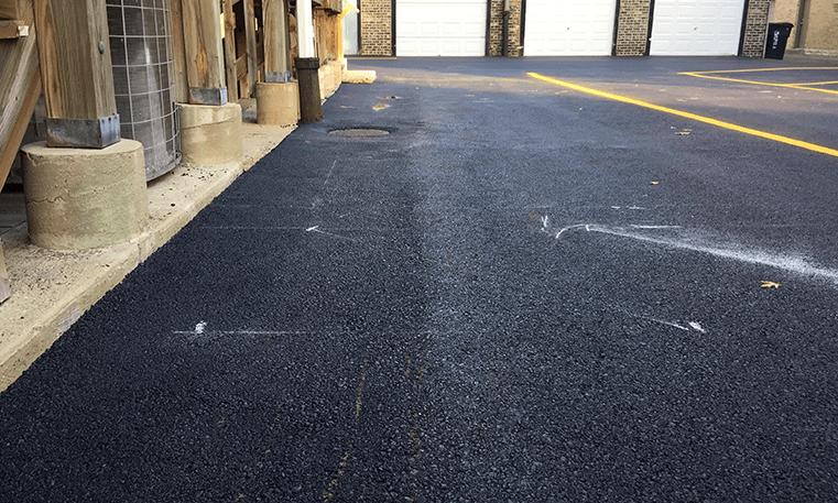 parking lot asphalt overlay