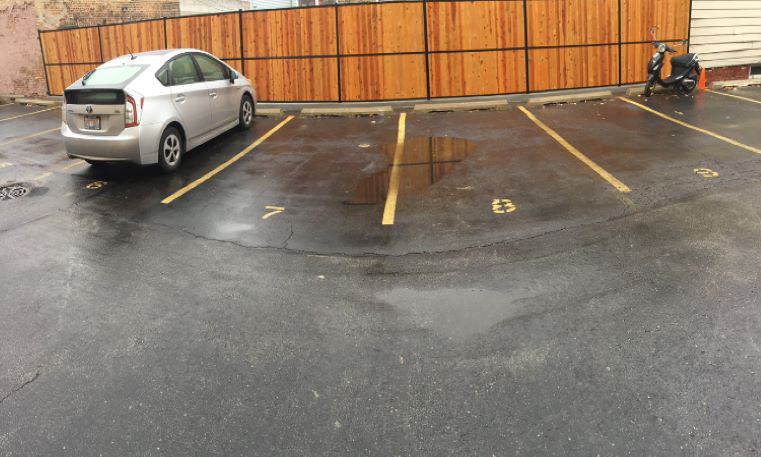marked parking lot