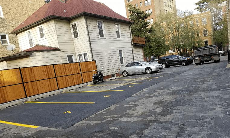 patched parking lot