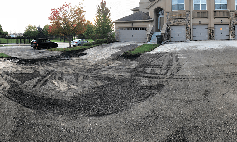 removing and replacing asphalt