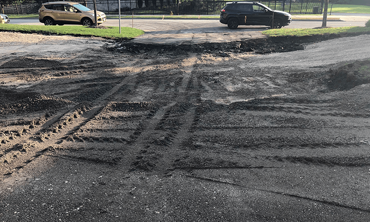 preparing to replace asphalt