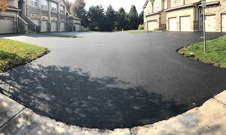 new asphalt in neighborhood