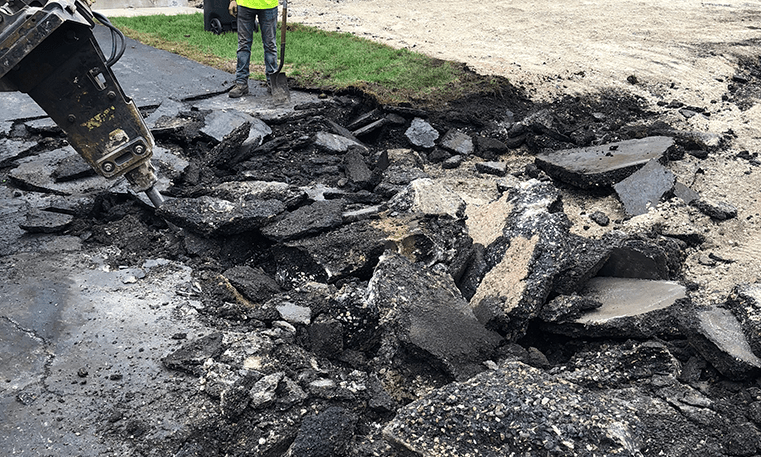removing asphalt