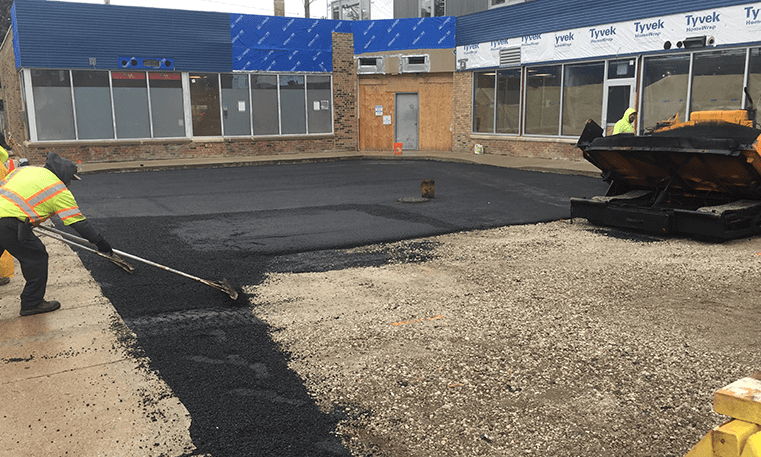 parking lot getting repaired