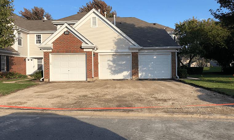 driveway before asphalt