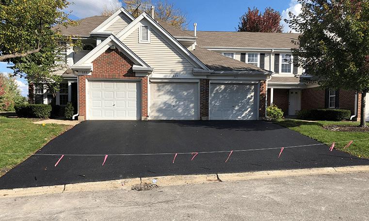 asphalt completed driveway