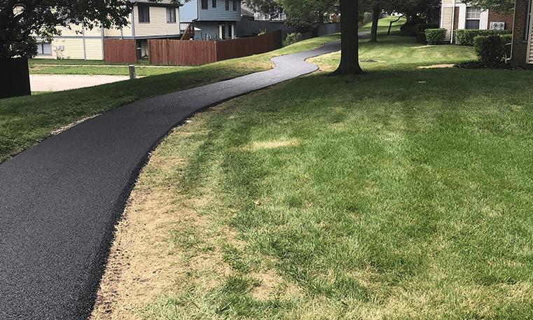 sidewalk with asphalt
