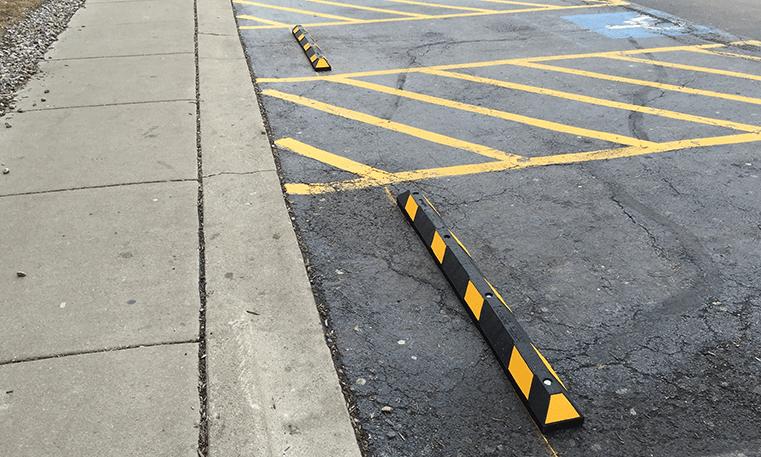 installed bumper block