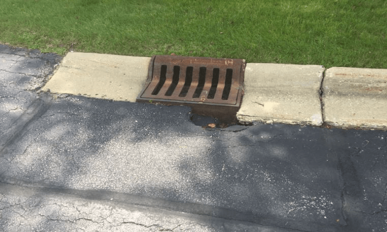 catch basin needing repair
