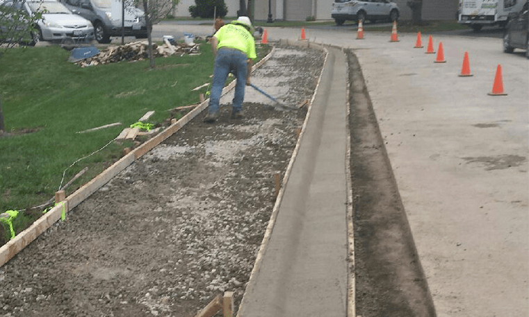 replacing sidewalk