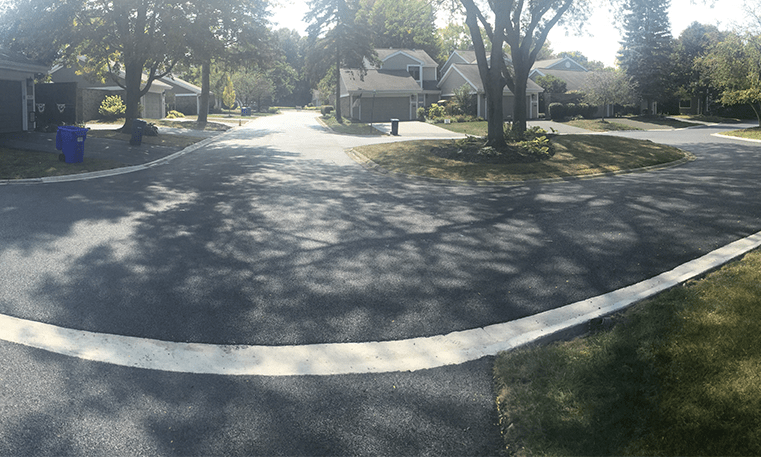 completed street paving