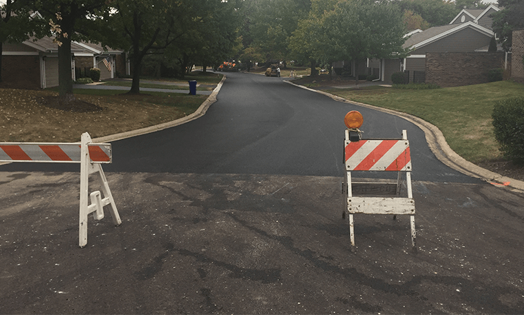 newly paved street