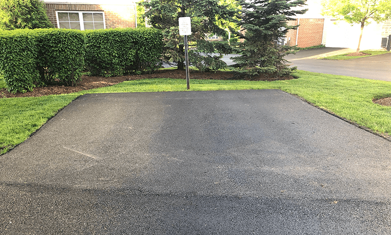 after asphalt overlay