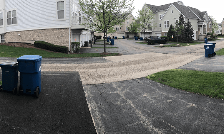 street and driveways