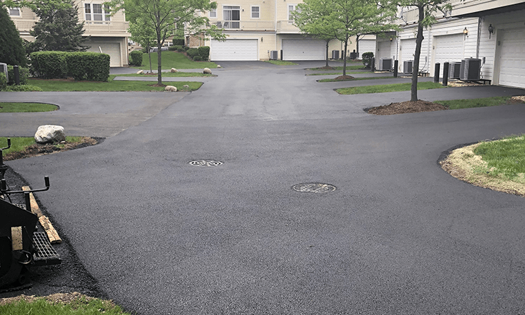road after asphalt overlay
