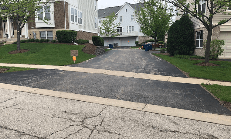 before asphalt overlay