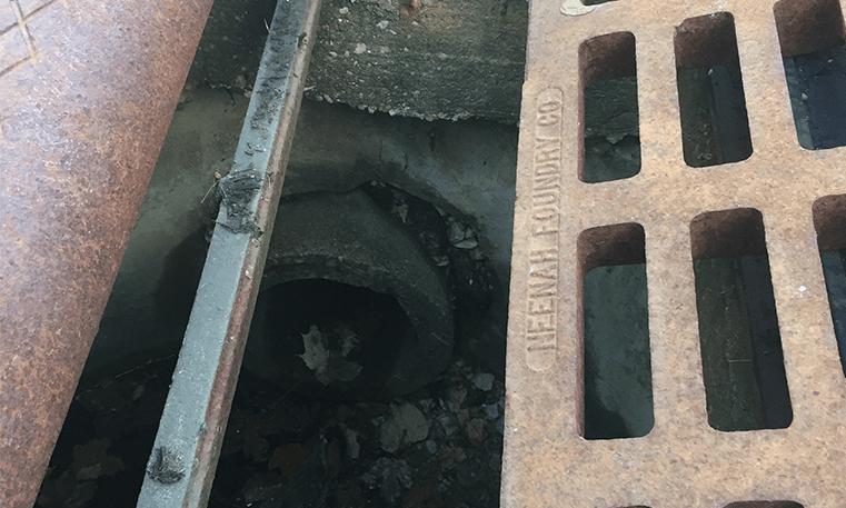 sink hole in street