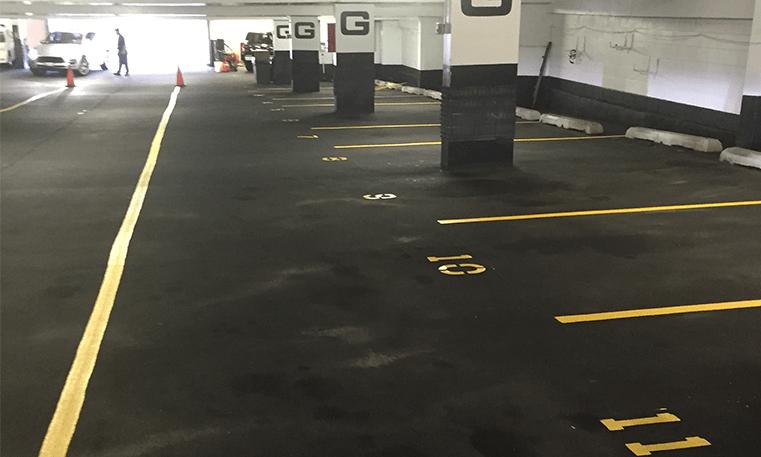 parking garage striping
