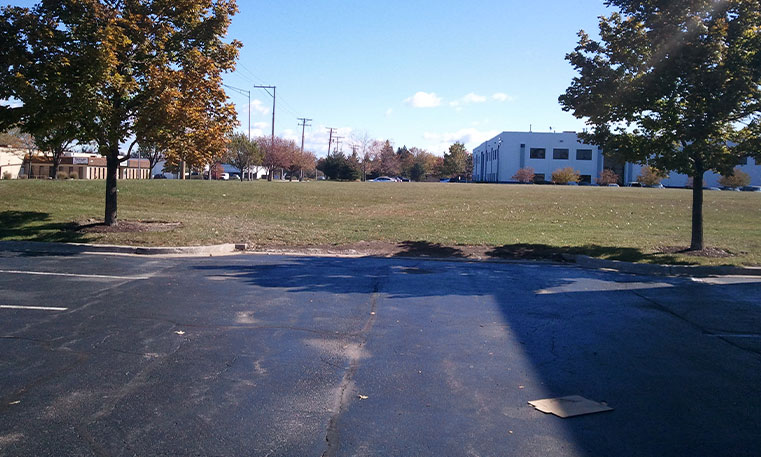 parking lot space before construction