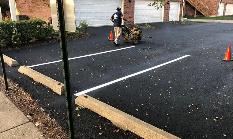 completed asphalt driveway