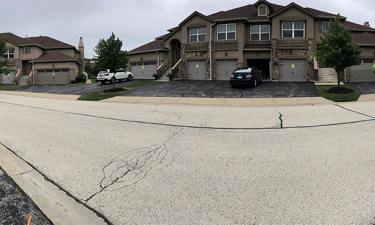 home driveway before asphalt replacement