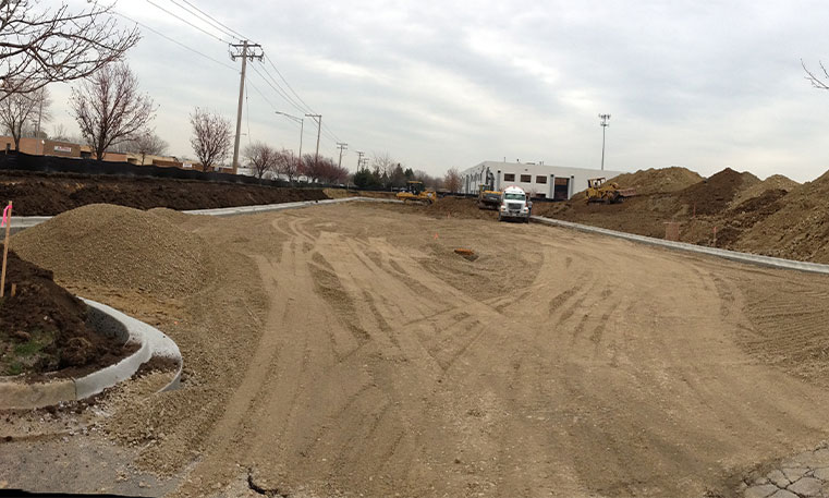 construction site at empty lot