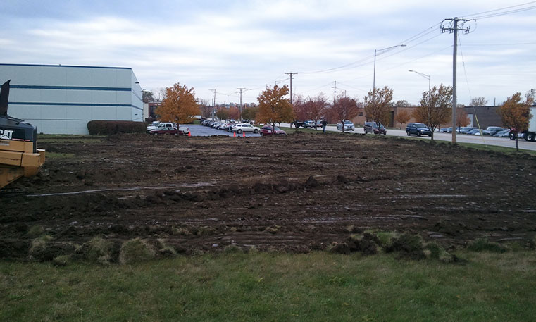 parking lot during construction process