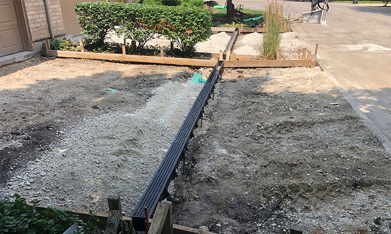 driveway space undergoing removal