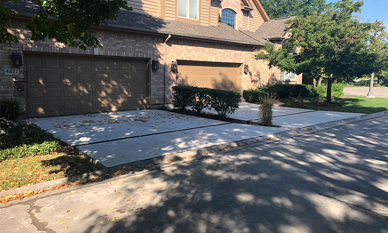 driveway after concrete replacement