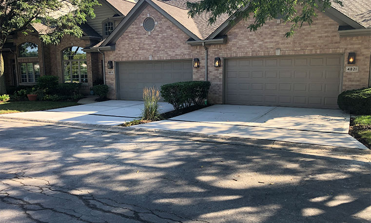 completed driveway after renovation