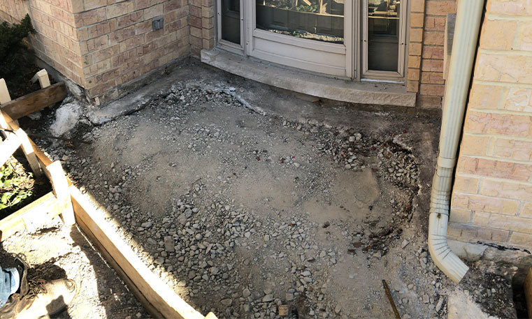 concrete during removal process
