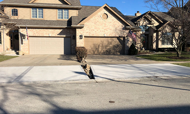 completed concrete removal and replacement