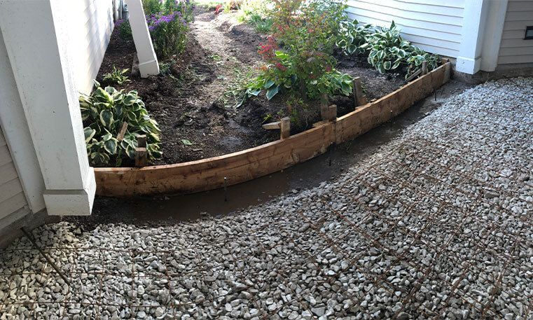 concrete stoop during removal and replacement