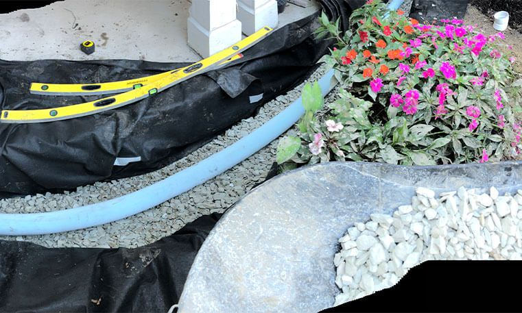 gravel for home stoop and sidewalk renovation