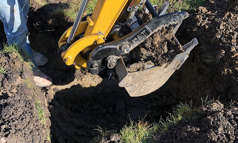 paving equipment to remove concrete