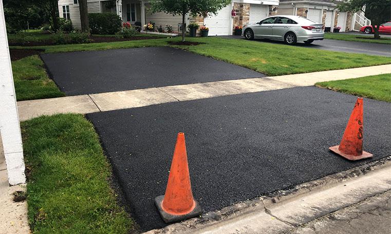 parking lot asphalt after replacement