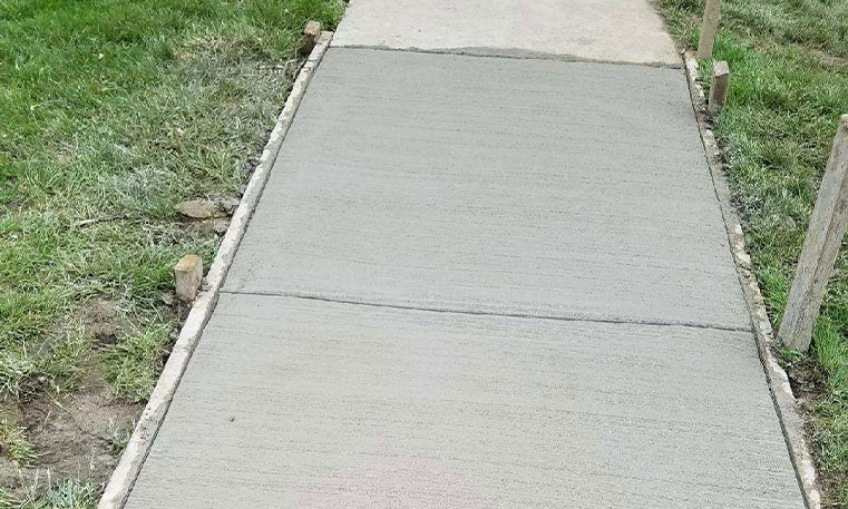 new concrete after replacement