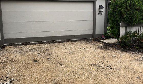 asphalt driveway prior to removal