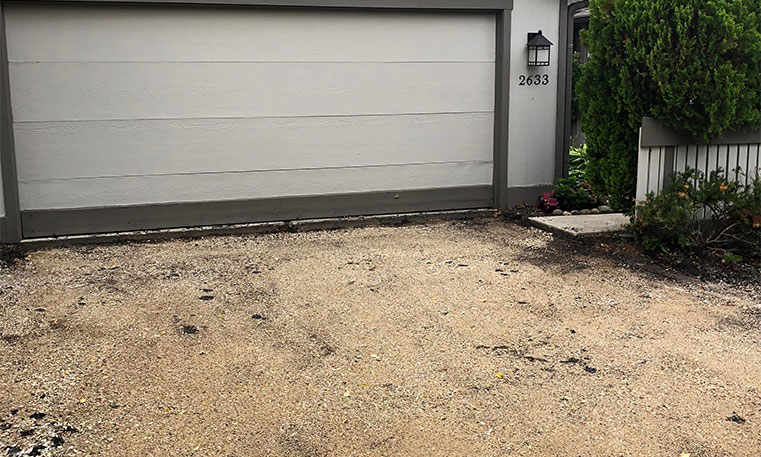 asphalt driveway prior to removal