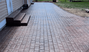 stamped concrete laid in st charles